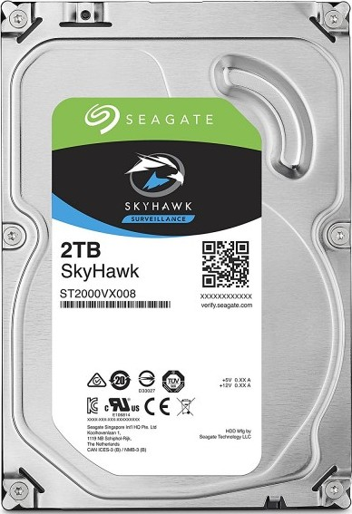 Seagate 2TB SkyHawk Surveillance Hard Drive - SATA 6Gb/s 64MB Cache 3.-Seagate