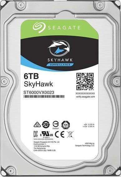Seagate 6TB SkyHawk Surveillance Hard Drive - SATA 6Gb/s 128MB Cache 3-Seagate